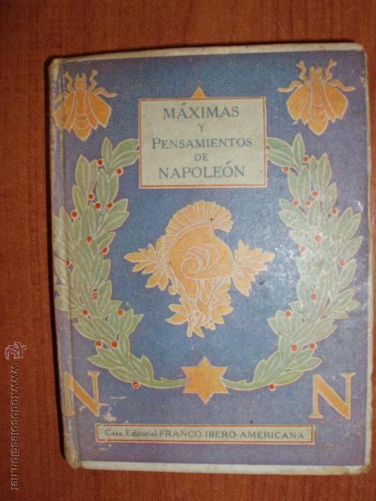 NAPOLEON PENSAMIENTOS. SELECCION HONORÉ DE BALZAC. BIBLIOTECA LILIPUT. (Libros antiguos (hasta 1936), raros y curiosos - Historia Antigua)
