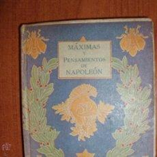 Libros antiguos: NAPOLEON PENSAMIENTOS. SELECCION HONORÉ DE BALZAC. BIBLIOTECA LILIPUT.. Lote 52969040