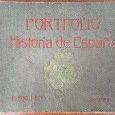 Alte Bücher - PORTFOLIO DE HISTORIA DE ESPAÑA MANUEL SANDOVAL TOMO 2º. M. SEGUI EDITOR BARCELONA CATALUNYA CAT (65 - 53110516