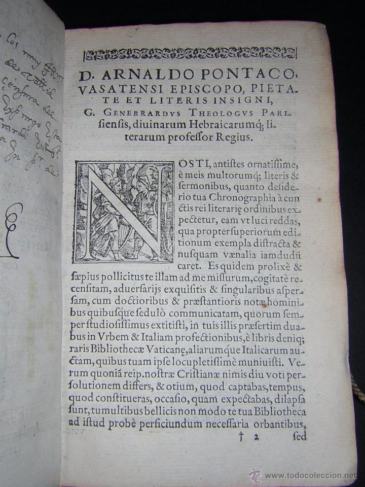 Libros antiguos: 1581 - GILBERTI GENEBRARDI - CHRONOGRAPHIAE LIBRI QUATUOR - Foto 4 - 53622094