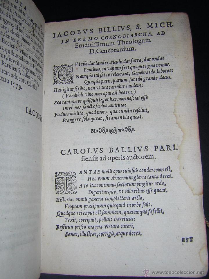Libros antiguos: 1581 - GILBERTI GENEBRARDI - CHRONOGRAPHIAE LIBRI QUATUOR - Foto 5 - 53622094