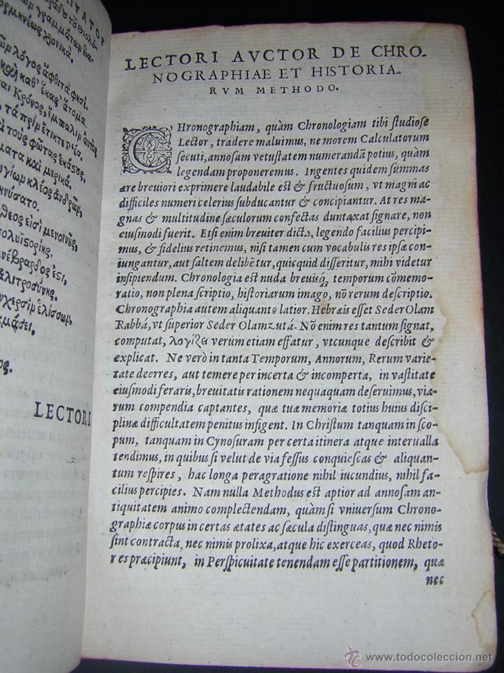 Libros antiguos: 1581 - GILBERTI GENEBRARDI - CHRONOGRAPHIAE LIBRI QUATUOR - Foto 6 - 53622094