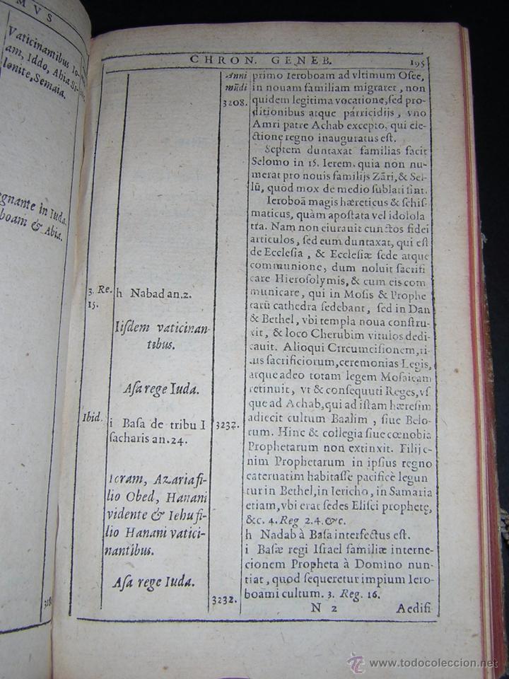 Libros antiguos: 1581 - GILBERTI GENEBRARDI - CHRONOGRAPHIAE LIBRI QUATUOR - Foto 8 - 53622094