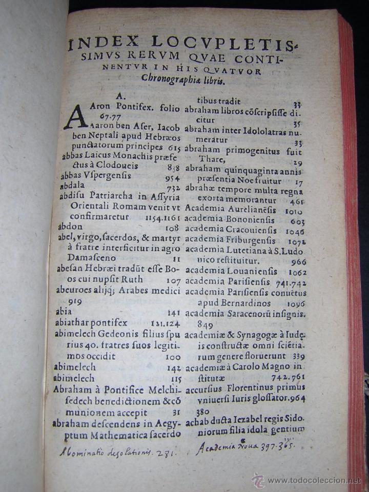 Libros antiguos: 1581 - GILBERTI GENEBRARDI - CHRONOGRAPHIAE LIBRI QUATUOR - Foto 9 - 53622094