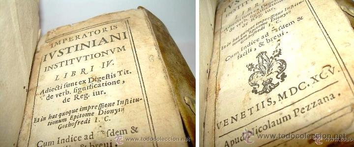Libros antiguos: APUD NICOLAUM PEZZANA, IMPERATORIS JUSTINIANI- EMPERADOR JUSTINIANO - S.XVII AÑO 1.695 - Foto 4 - 53725221