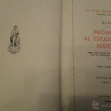 Libros antiguos: INICIACION AL ESTUDIO DE LA HISTORIA 2ª PARTE EDAD MEDIA-1933. Lote 53750033
