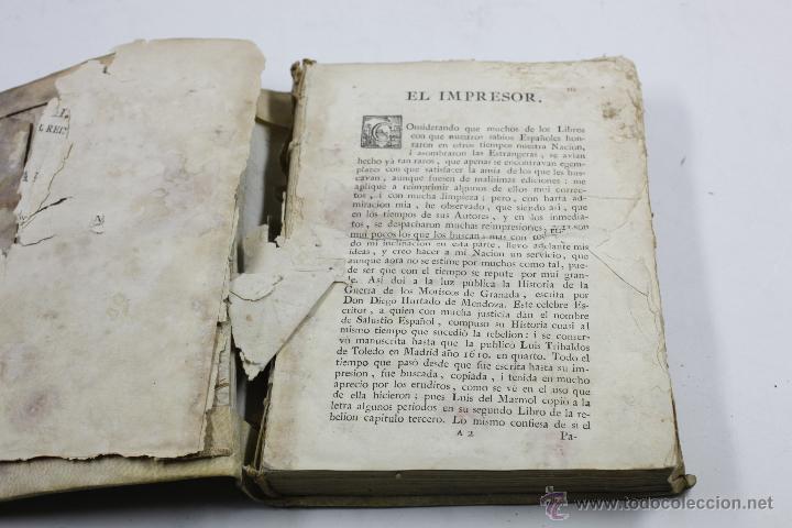 Libros antiguos: GUERRA DE GRANADA, DIEGO HURTADO, VALENCI, 1776. 15X20 CM. - Foto 4 - 53782609