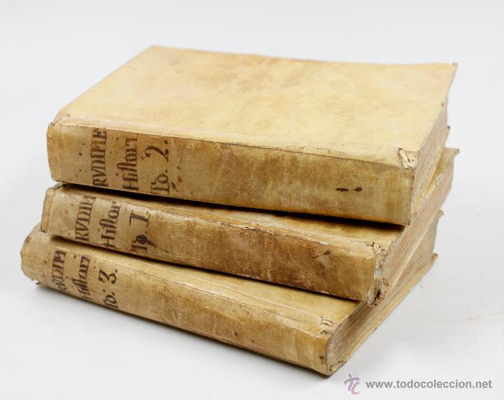 RUDIMENTOS HISTÓRICOS, O MÉTODO PARA INSTRUIRSE LA JUVENTUD, 3 TOMOS. 1787. BENITO CANO ED. (Libros antiguos (hasta 1936), raros y curiosos - Historia Antigua)