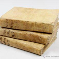 Libros antiguos: RUDIMENTOS HISTÓRICOS, O MÉTODO PARA INSTRUIRSE LA JUVENTUD, 3 TOMOS. 1787. BENITO CANO ED.. Lote 53799600