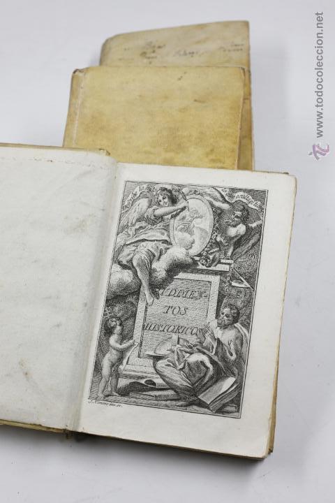 Libros antiguos: RUDIMENTOS HISTÓRICOS, O MÉTODO PARA INSTRUIRSE LA JUVENTUD, 3 TOMOS. 1787. BENITO CANO ED. - Foto 5 - 53799600