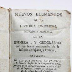 Libros antiguos: NUEVOS ELEMENTOS DE LA HISTORIA UNIVERSAL, BARCELONA 1739. 16X10CM.. Lote 53800139