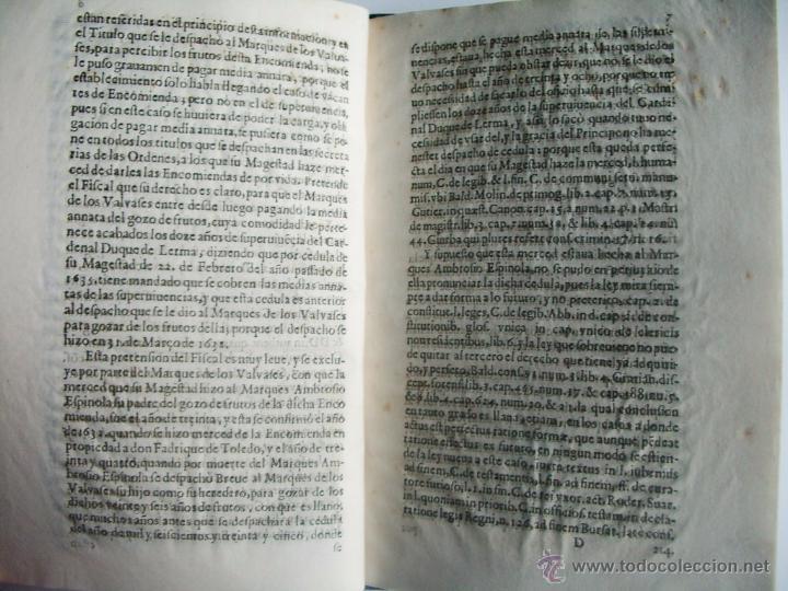 Libros antiguos: 1638-ENCOMIENDA.FELIPE ESPINOLA.MARQUÉS DE LOS BALBASES.BURGOS.DUQUE DE LERMA.DUQUE DE ALBURQUERQUE - Foto 4 - 54354078