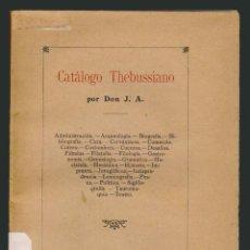 Libros antiguos: JOSÉ AMOSA.CATÁLOGO THEBUSSIANO.MEDINA SIDONIA 1911. Lote 54510963