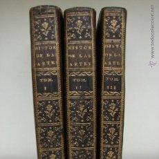 Libros antiguos: HISTORIA DE LAS ARTES Y CIENCIAS. CARLOS ROLLIN. MADRID 1776. 3 TOMOS. Lote 54694412