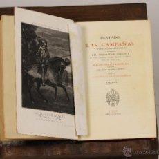 Libros antiguos: 7219- TRATADO DE LAS CAMPAÑAS. 3 TOMOS(VER DESCRIP). M. GARCÍA. PU. B. ESPAÑOLES. 1873-76.. Lote 54369071
