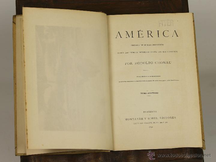 7170 - AMÉRICA. TOMOS 2 Y 3. RODOLFO CRONAU. EDI. MONTANER Y SIMON. 1892. (Libros antiguos (hasta 1936), raros y curiosos - Historia Antigua)