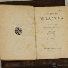Alte Bücher - 7171 - LAS CIVILIZACIONES DE LA INDIA. 3 TOMOS. GUSTAVO LE BON. EDI. M. Y SIMON. 1901. - 53727963