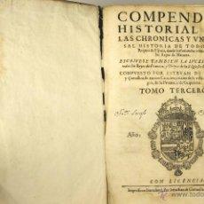 Libros antiguos: 7040 - COMPENDIO HISTORIAL,TOMO III. ESTEVAN DE GARIBAY. IMP. S. CORMELLAS. 1628.. Lote 52533843