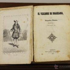 Libros antiguos: 7264 - EL VIZCONDE DE BRAGELONA. ALEJANDRO DUMAS. IMP. EL PORVENIR. 1857.. Lote 54892224