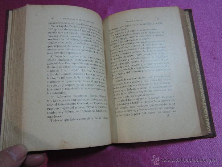 Libros antiguos: ULTIMOS DIAS DE ESPAÑA EN CUBA AÑO GUERRA DE CUBA 1901 - 394 PAGINAS LOMO DE PIEL W. A INSUA - Foto 5 - 35452427