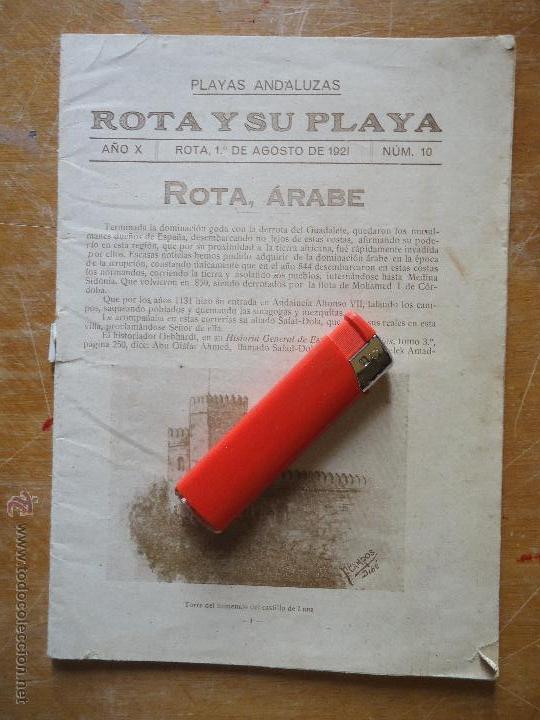 INFORMACION GRAFICA FALTA PORTADA - CADIZ VILLA DE ROTA AGOSTO 1921 PLAYAS ANDALUZAS ROTA ARABE (Alte, seltene und kuriose Bücher (bis 1936) - Geschichte - Alte Geschichte)