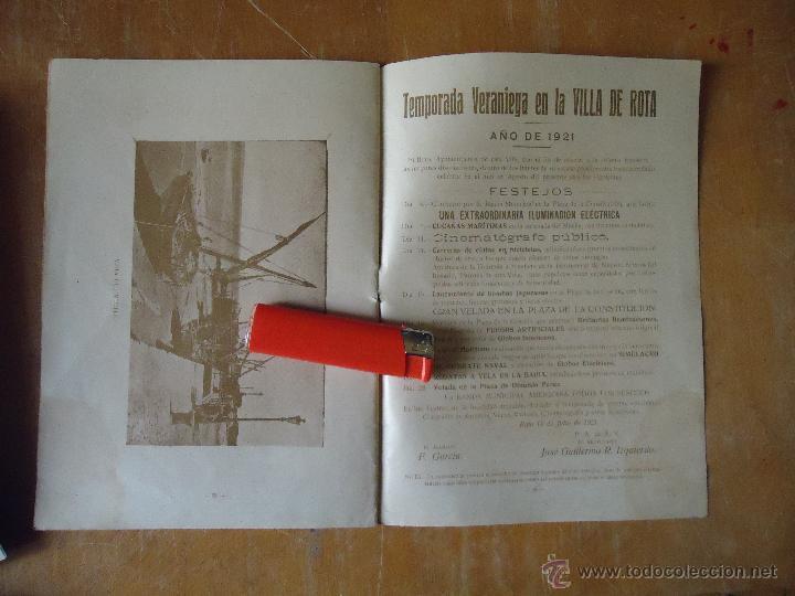 Alte Bücher: informacion grafica falta portada - cadiz villa de rota agosto 1921 playas andaluzas rota arabe - Foto 2 - 55024986