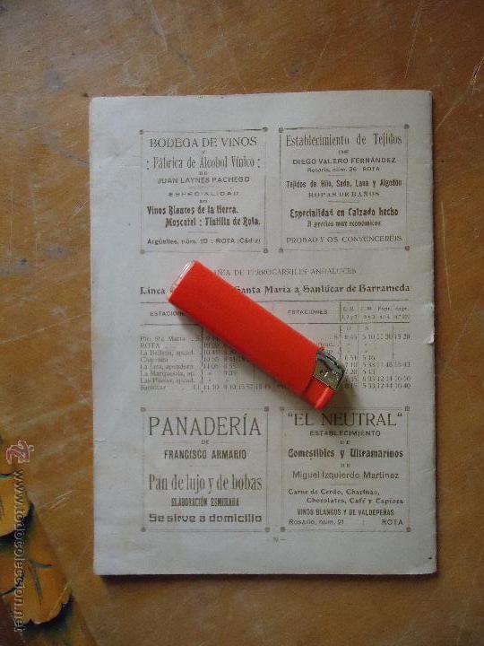 Alte Bücher: informacion grafica falta portada - cadiz villa de rota agosto 1921 playas andaluzas rota arabe - Foto 4 - 55024986