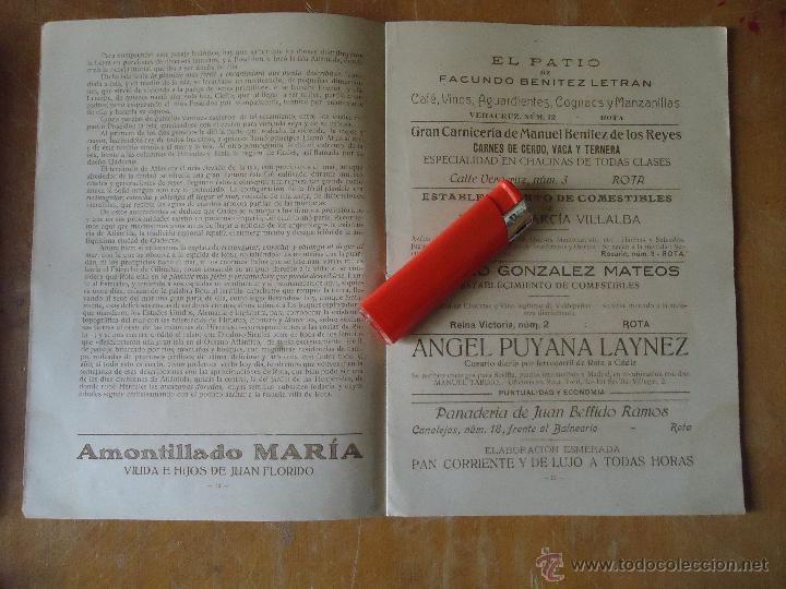 Alte Bücher: informacion grafica falta portada - cadiz villa de rota agosto 1921 playas andaluzas rota arabe - Foto 15 - 55024986