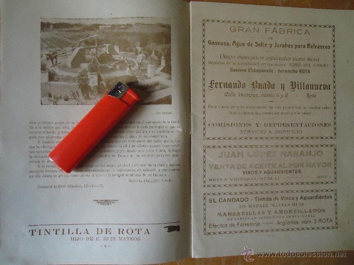 Alte Bücher: informacion grafica falta portada - cadiz villa de rota agosto 1921 playas andaluzas rota arabe - Foto 17 - 55024986