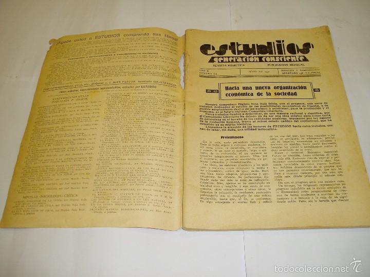 Libros antiguos: ESTUDIOS Generación consciente. Mayo 1932 - Foto 2 - 55133545