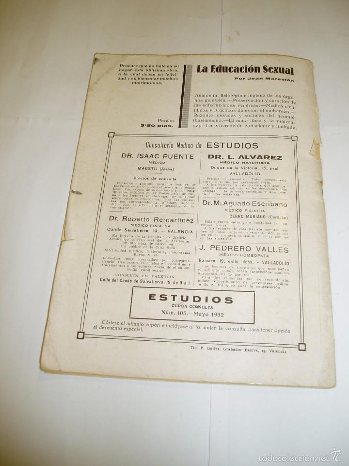 Libros antiguos: ESTUDIOS Generación consciente. Mayo 1932 - Foto 3 - 55133545