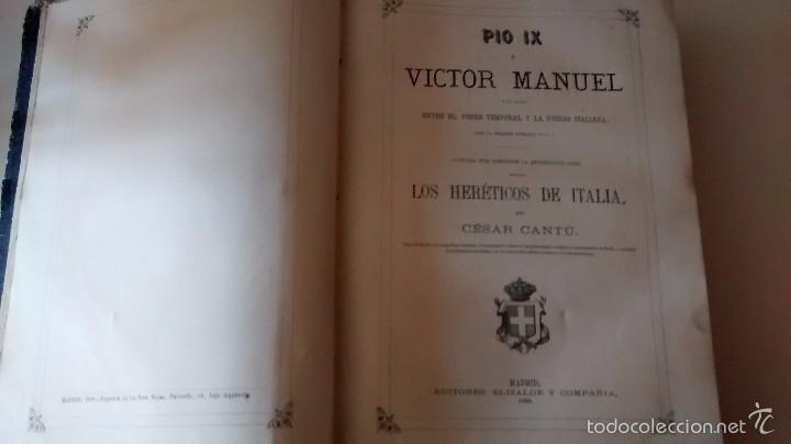 Libros antiguos: Pío IX y Víctor Manuel. Los heréticos de Italia. 1868 - Foto 7 - 55732940