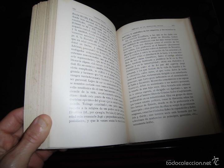 Libros antiguos: HISTORIA DE LA LITERATURA GRIEG.WILHELM NESTLE.EDITORIAL LABOR 1930 - Foto 4 - 56313126