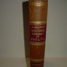Libros antiguos: LIBRO TAPAS DE PIEL...CON GRABADOS Y HOJAS DESPLEGABLES....HISTORIA DE ESPAÑA....PUEBLOS GERMANICOS.. Lote 56599916