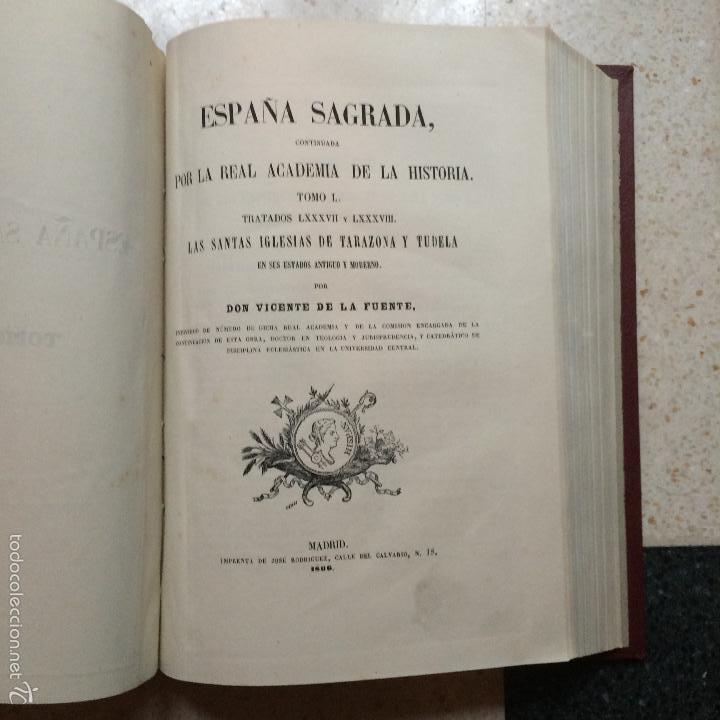 Libros antiguos: España Sagrada XLIX y L (49 y 50) Iglesia de Tarazona y Tudela 1865-1866 Vicente de la Fuente Florez - Foto 7 - 56616468