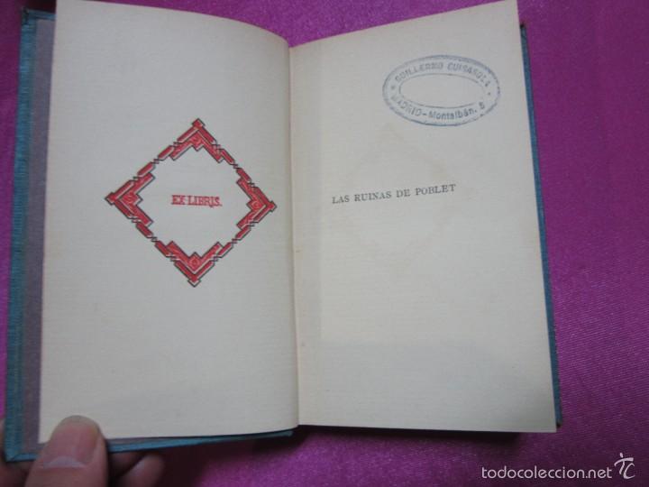 Libros antiguos: LAS RUINAS DE POBLET VICTOR BALAGUER COLECCION ESCRITORES CASTELLANOS 1ª EDICION 1885. - Foto 5 - 57106565