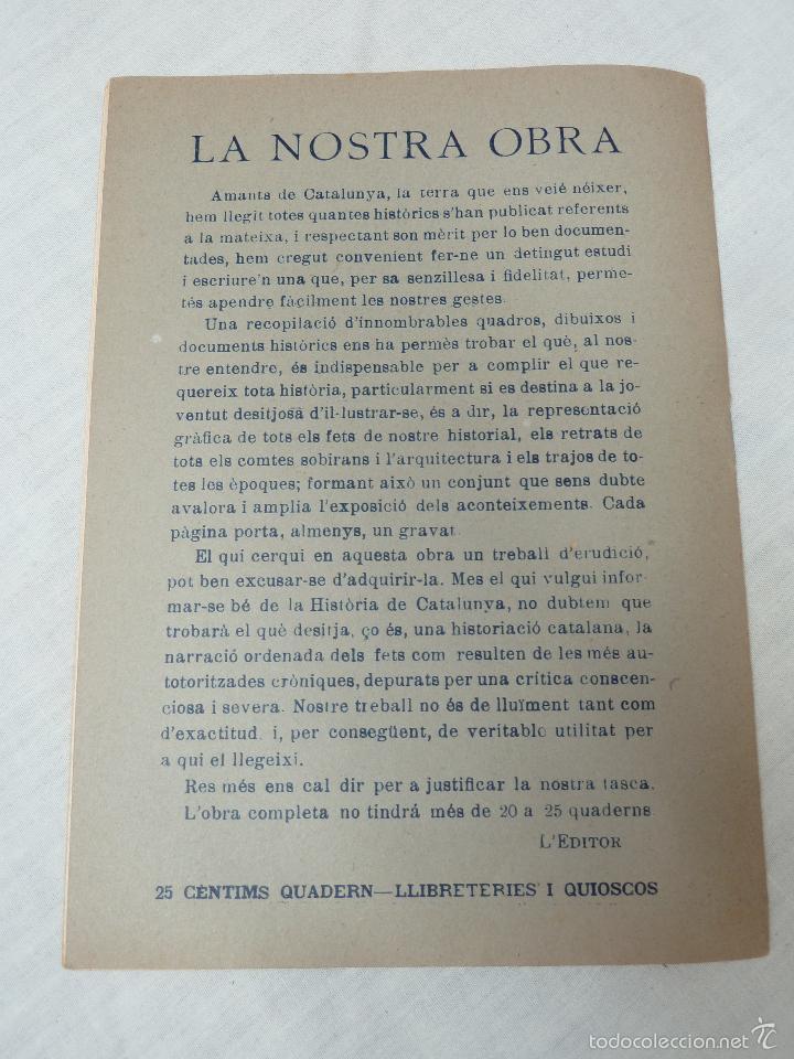 Libros antiguos: HISTORIA (GENERAL) DE CATALUNYA / M. SERRA I ROCA - EDITOR M. SEGUÍ - 1910 A 1922 - COMPLETA - Foto 13 - 57349680