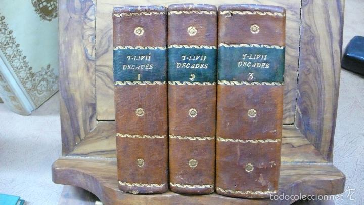 HISTORIARUM AB URBE CONDITA. LIBRI XLV. TOMOS I-II-III. T. LIVII PATAVINI. 1722. (Libros antiguos (hasta 1936), raros y curiosos - Historia Antigua)