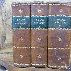 Libros antiguos: HISTORIARUM AB URBE CONDITA. LIBRI XLV. TOMOS I-II-III. T. LIVII PATAVINI. 1722.. Lote 57435595