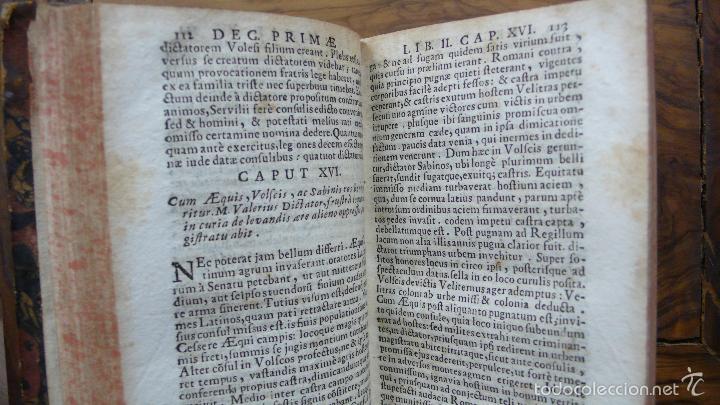Libros antiguos: HISTORIARUM AB URBE CONDITA. LIBRI XLV. TOMOS I-II-III. T. LIVII PATAVINI. 1722. - Foto 3 - 57435595