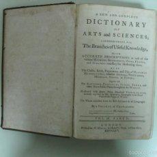 Libros antiguos: DICTIONARY OF ARTS AND SCIENCES, VOL. III, 1754. SOCIETY OF GENTLEMEN. POSEE 37 GRABADOS. Lote 57454317