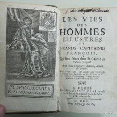 Libros antiguos: LES VIES DES HOMMES ILUSTRES...1700. VULSON DE LA COLOMBIERE. POSEE 26 GRABADOS. Lote 57519764