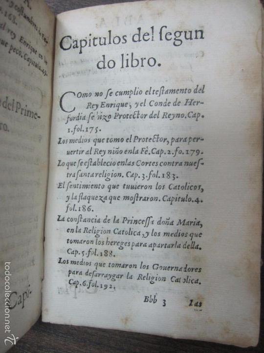 Libros antiguos: HISTORIA ECLESIASTICA DEL SCISMA DEL REYNO DE INGLATERRA. 1588. EN EL CUAL SE TRATAN LAS ... LEER - Foto 12 - 57659813