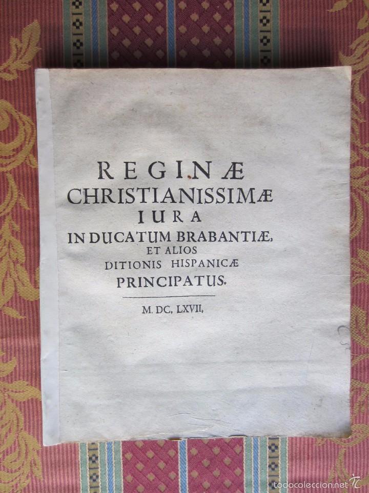 1667-DERECHOS DE ANA DE AUSTRIA.REINA FRANCIA-NAVARRA.HERMANA FELIPE IV.MADRE DE LUIS XIV.ORIGINAL (Libros antiguos (hasta 1936), raros y curiosos - Historia Antigua)