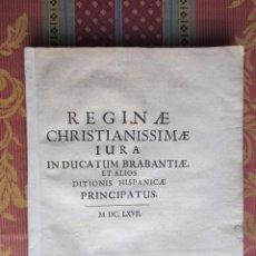 Libros antiguos: 1667-DERECHOS DE ANA DE AUSTRIA.REINA FRANCIA-NAVARRA.HERMANA FELIPE IV.MADRE DE LUIS XIV.ORIGINAL. Lote 57681189