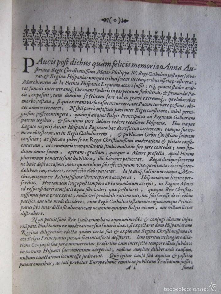 Libros antiguos: 1667-DERECHOS DE ANA DE AUSTRIA.REINA FRANCIA-NAVARRA.HERMANA FELIPE IV.MADRE DE LUIS XIV.ORIGINAL - Foto 2 - 57681189