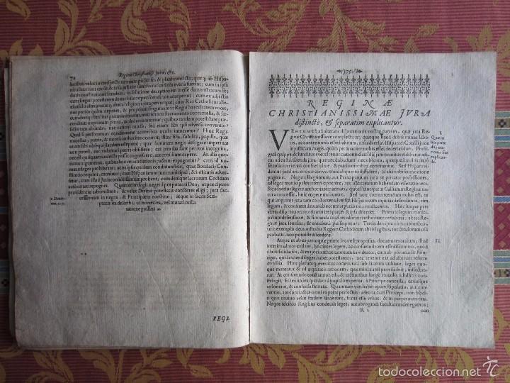 Libros antiguos: 1667-DERECHOS DE ANA DE AUSTRIA.REINA FRANCIA-NAVARRA.HERMANA FELIPE IV.MADRE DE LUIS XIV.ORIGINAL - Foto 5 - 57681189