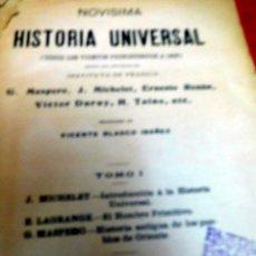 Libros antiguos: CURIOSO LIBRO DE HISTORIA, EDITADO EN 1.908, PARTE DESDE LA APARICIÓN DEL HOMBRE HASTA LA EDICIÓN-. Lote 57715469