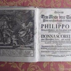 Libros antiguos: 1723-CONVERSACIONES ENTRE FELIPE IV, REY ESPAÑA Y SU HERMANA ANA AUSTRIA.REINA FRANCIA.GRABADO ORIGI. Lote 57772527