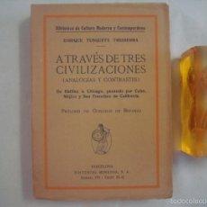 Libros antiguos: TUSQUETS. A TRAVÉS DE CIVILIZACIONES.(ANALOGIAS Y CONTRASTES) 1920. 1A EDICIÓN. Lote 57798249